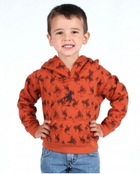 Cowboy Hardware® Boys' All Over Bronc Hoodie