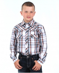 Cowboy Hardware® Boys' Long Sleeve Stitch Plaid Shirt