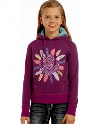 Rock and Roll Cowgirl® Girls' Diamond Feather Hoodie