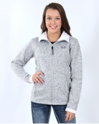 Powder River Outfitters Ladies' Fur Lined Knit Full Zip Jacket