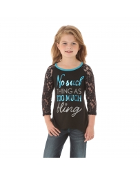 Rock 47 by Wrangler® Girls' Lace Raglan Top
