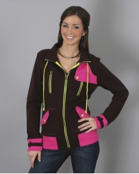 Cruel® Ladies' Contrast Color Fleece Jacket