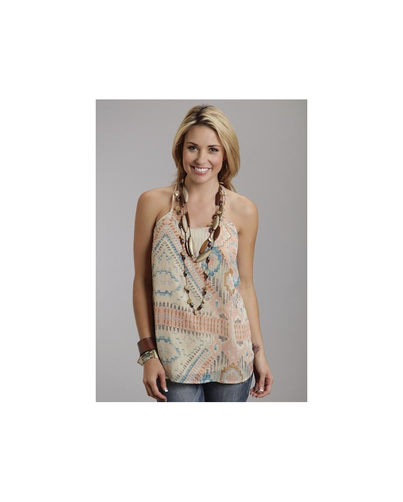 619dd9f5 Stetson® Ladies' Aztec Print Tank - Fort Brands