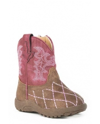 Roper® Girls' Pink Diamond Stitch Boots - Infant