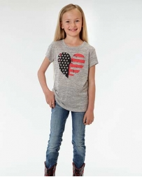 Roper® Girls' Heather Jersey Tee