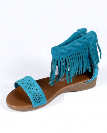 Consolidated Shoe Co® Girls' Fringe Sandal