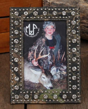 "Mossy Oak® Crystal 4"" X 6"" Photo Frame"