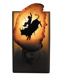 Bull Rider Medicine Rock Ranch Agate Western Silhouette Night Lites