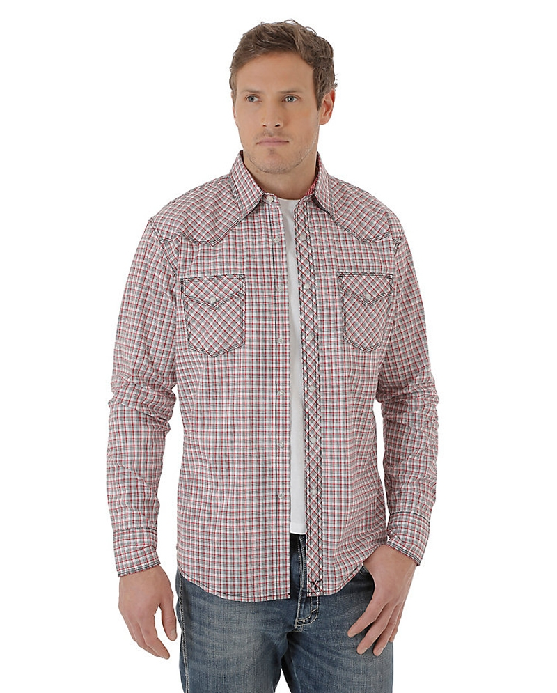 Wrangler 20x Men 39 S Long Sleeve Plaid Shirt Tall Fort