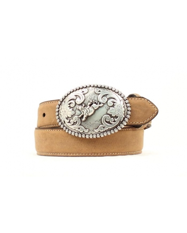 Nocona® Boys' Leather Bucking Bull Belt