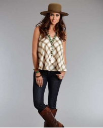 Stetson® Ladies' Ombre Plaid Tank