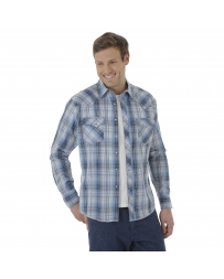 Wrangler® Men's Fashion Snap Long Sleeve Shirt - Big & Tall