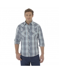 Wrangler® Men's Fashion Snap Long Sleeve Shirt