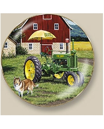 "Collector Plates Farming Grandpa Lloyd's Air-Conditioned ""A"" By Neal Anderson"