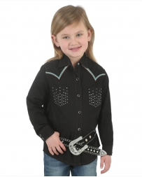 Wrangler® Girls' Rhinestone Pocket Snap Shirt