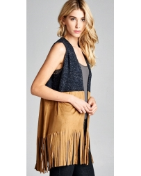 Younique® Ladies' Color Block Fringe Vest