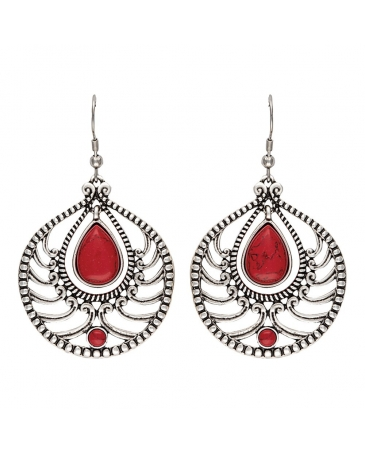 Rock 47 by Wrangler® Ladies' Red Teardrop Earrings