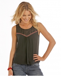 Rock and Roll Cowgirl® Ladies' Hi Low Tank With Lace