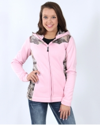 Roper® Ladies' Pink& Camo Bonded Fleece Jacket