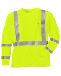 Key® Men's ANSI II Class 3 Hi-Vis Long Sleeve Pocket Tee