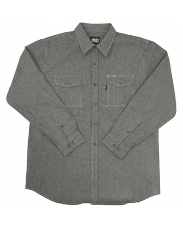 Key® Men's Performance Comfort Long Sleeve Chambray Shirt
