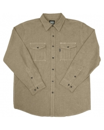 Key® Men's Long Sleeve Chambray Shirt