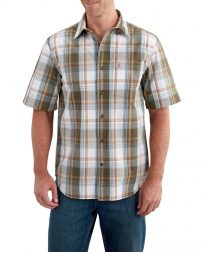 Carhartt® Men's Essential Plaid Open Collar Short Sleeve Shirt