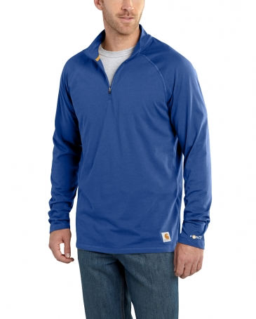 Carhartt® Men's Force® Cotton Delmont Long-Sleeve Quarter Zip Pullover - Big