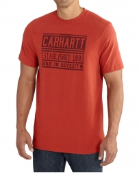 Carhartt® Men's Workwear Graphic Born in Detroit Short Sleeve Tee