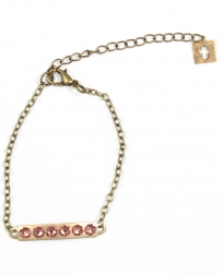 Pink Pananche® Ladies' Bar on Chain Bracelet