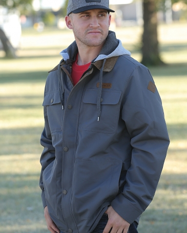 Cinch® Men's Canvas Jacket With Hood