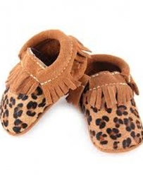 First Step® Girls' Tan Leopard Moc