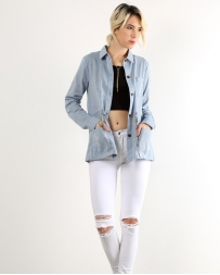 Hem & Thread® Ladies' Chambray Denim Jacket
