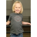 Cruel® Girls' Infant Front Screen Glitter Tee