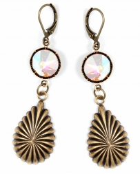 Pink Pananche® Ladies' Large Crystal AB Earrings