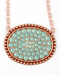Pink Pananche® Ladies' Rosegold Side Oval Necklace