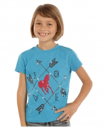Rock and Roll Cowgirl® Girls' Short Sleeve Arrows Love Shirt