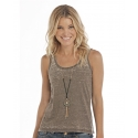 Rock and Roll Cowgirl® Ladies' Lace Back Acid Tank