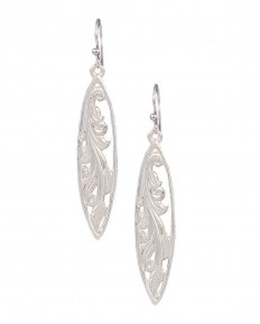 Montana Silversmiths® Ladies' Marquise Grace Leaf Earrings