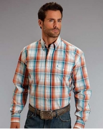 Stetson® Men's Desert Ombre Plaid Shirt