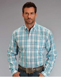 Stetson® Men's LS Blue Springs Plaid Shirt