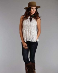 Stetson® Ladies' Sleeveless Lace Peplum