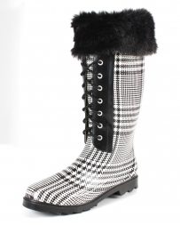 Ladies' Plaid Print Rain Boot