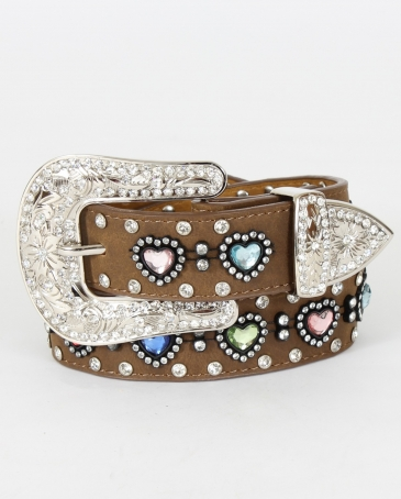 Nocona Belt Co.® Girls' Multi-Color Heart Belt
