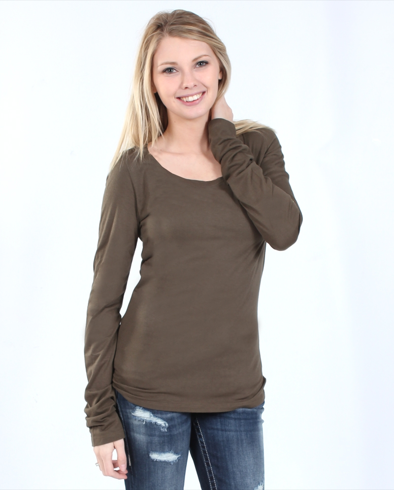 ccc36736111 Survival Ladies  Long Sleeve Scoop Neck Tee - Fort Brands