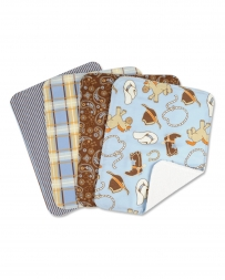 Cowboy Baby Burp Cloth Set - 4 Pieces