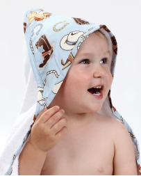 Cowboy Baby Hooded Towel
