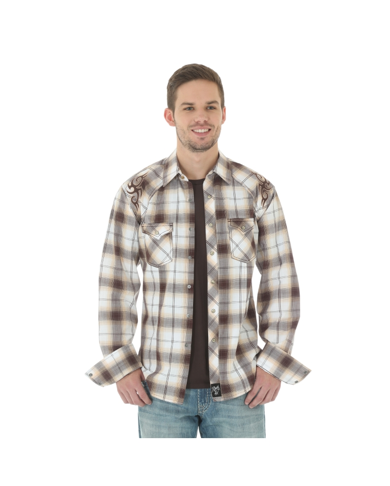 a2531539 Rock 47 by Wrangler® Men's Long Sleeve Western Shirt - Fort Brands