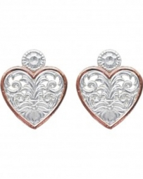 Montana Silversmiths® Ladies' Western Lace Heart Earrings