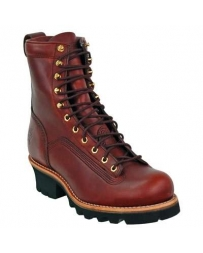 "Chippewa® Men's 8"" Redwood Logger Rugged Outdoor Boots"